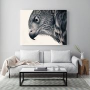 XXL Canvas print of the Cooper's Hawk drawing.