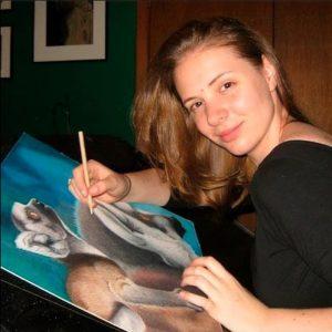 Photo of Corrina Drawing