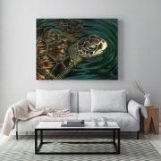Sea-Turtle-in-situ-living-room-metal-web