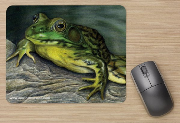 Green frog mousepad corrina thurston for Frog consulting