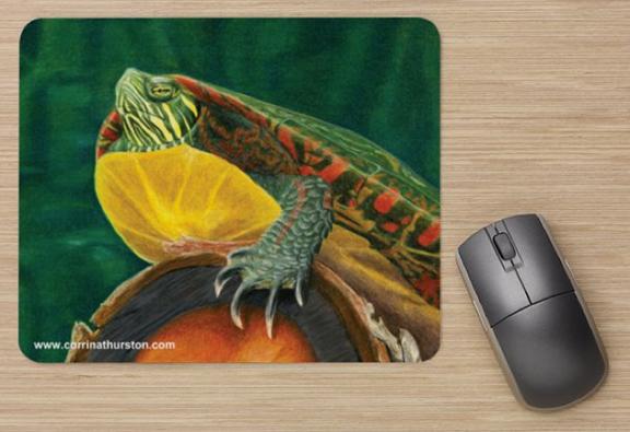 Painted-Turtle-Mousepad