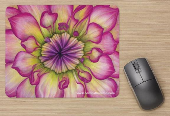 Pink-Dahlia-Mousepad