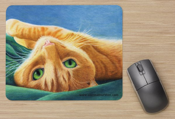 Playful-Ginger-Mousepad