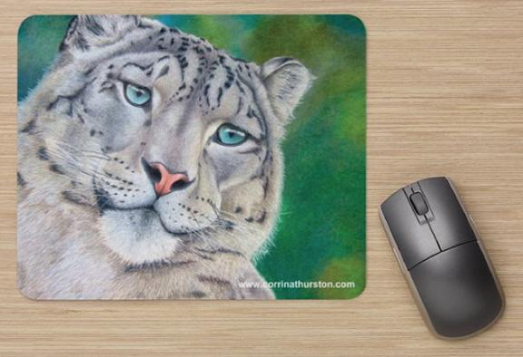 Snow-Leopard-Mousepad
