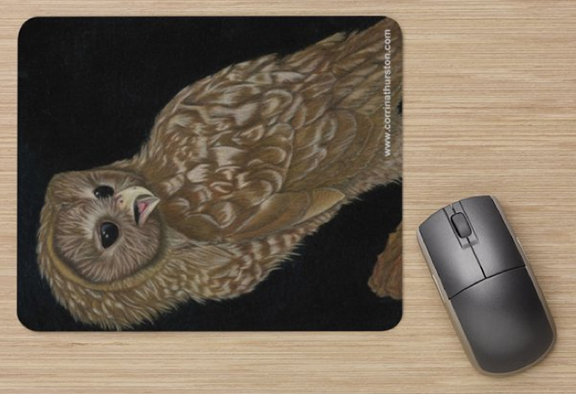 Spotted-Owl-Mousepad