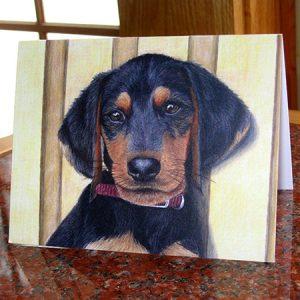 beagle-dachshund-puppy-card