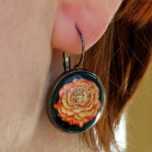 orange-rose-earring-1