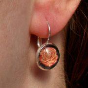 orange-rose-earring
