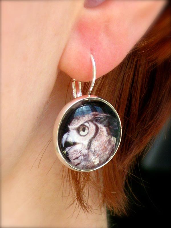 Horned Owl Earrings