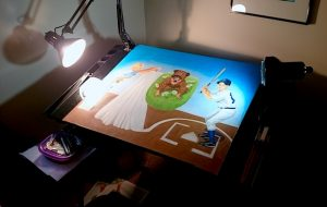 The piece was almost bigger than my drawing table.