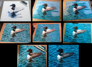 Mapping out the Loon and the water, layer by layer.
